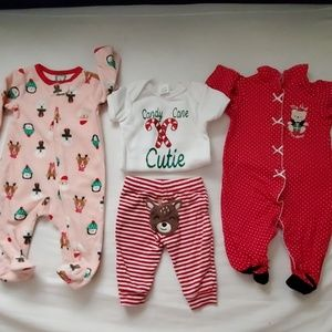 3 Pair Baby's Christmas Outfits
